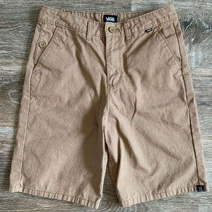 Boy vans shorts khaki